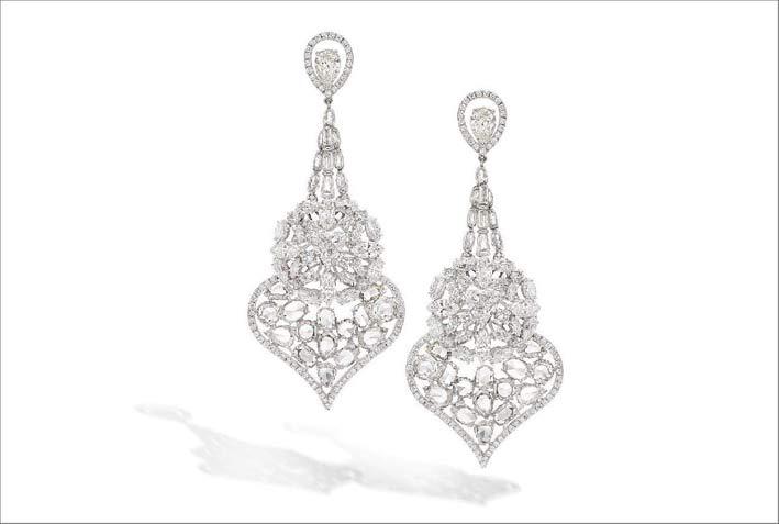 Orecchini con diamanti stile arabo
