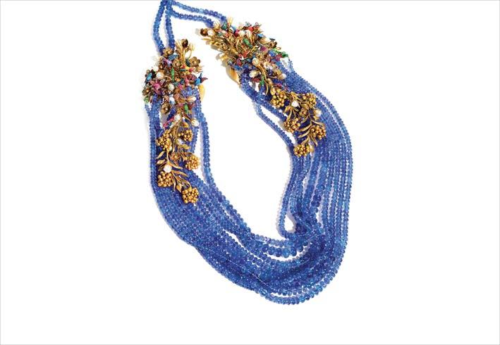 Blue Rhapsody, collana con perle di iolite