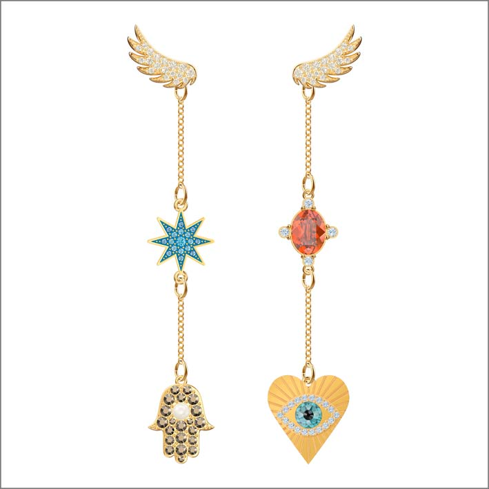Orecchini pendenti della collezione Lucky Goddess