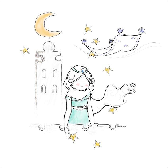 Illustrazione di SIlvia Mondomino per la collezione Numbers