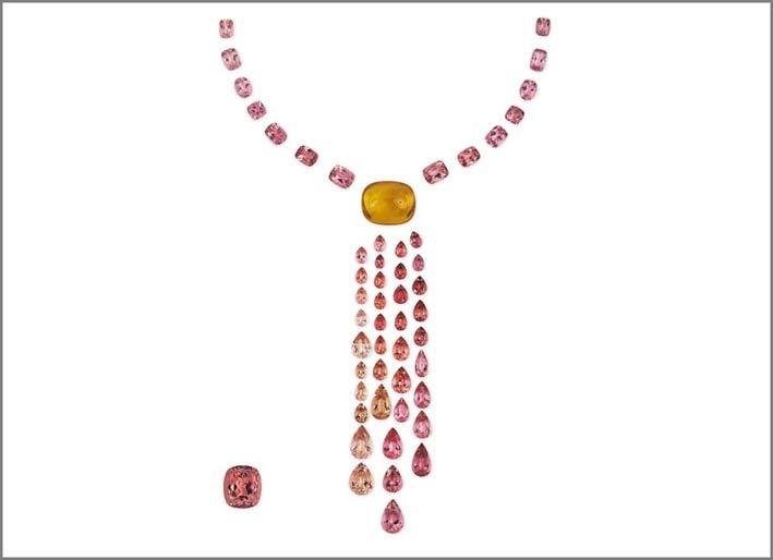 Set con tormaline rosse africane e berillo giallo