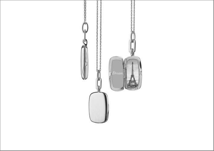 Locket rettangolare in argento