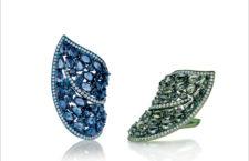 Giovanni Ferraris, anelli in titanio con zaffiri blu o verdi