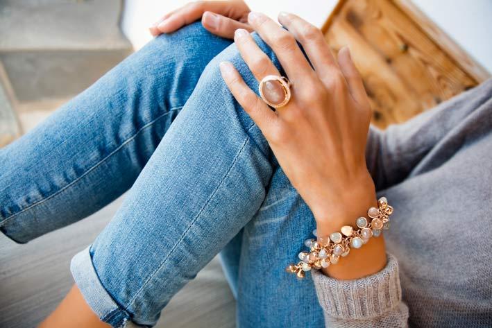 Anello e bracciale di Tamara Comolli