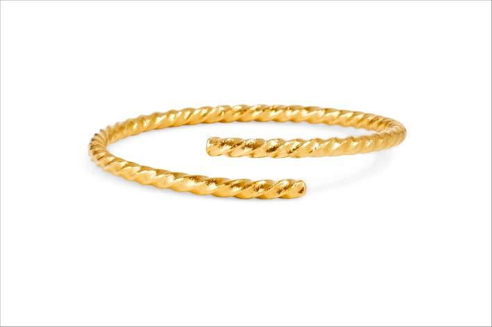 Bracciale in oro 24 carati Torc