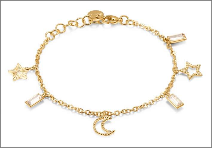 Bracciale dorato della collezione Chant
