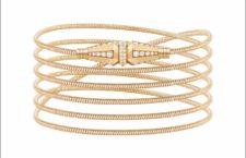 Bracciale o collana in oro rosa a sei fili con diamanti