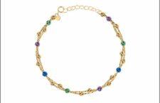 Bracciale a filo doppio con perline colorate
