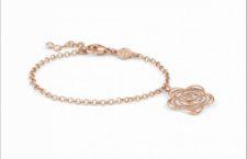 Bracciale in argento placcato oro rosa