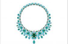 Collana con turchesi, smeraldi, diamanti