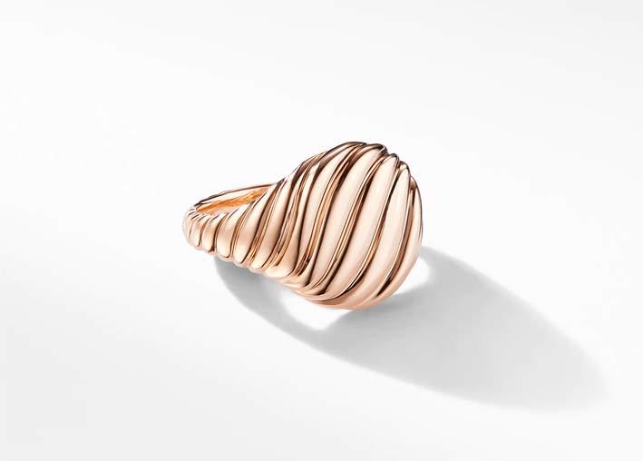 David Yurman, pinky ring in oro