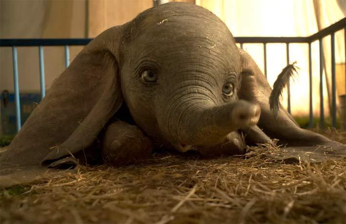 Dumbo nel film di Tim Burton