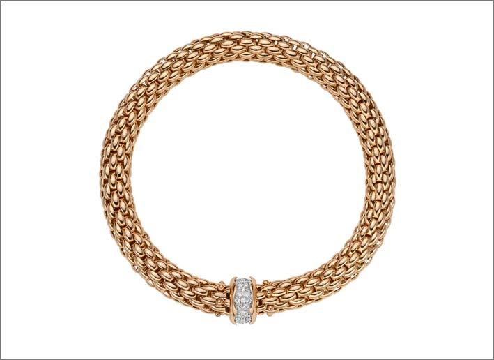 Bracciale in oro con maglia Flex'it