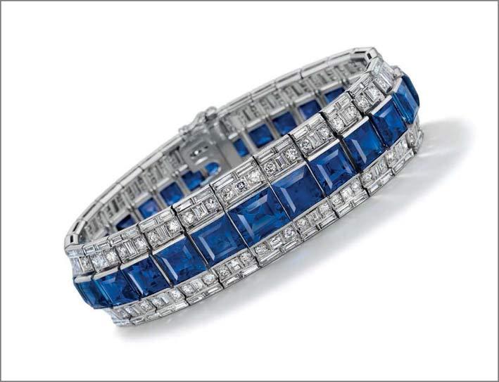 Bracciale con zaffiri e diamanti
