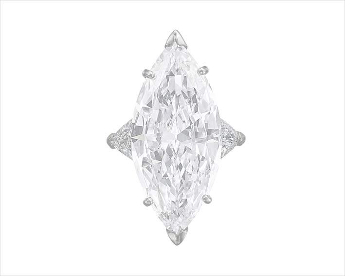 Diamante taglio marquise di 16,69 carati