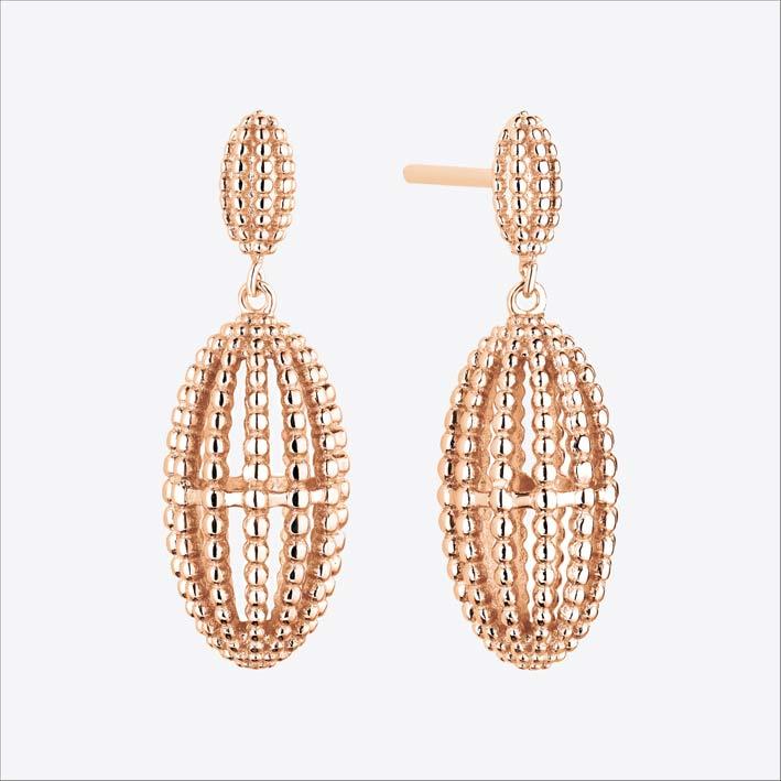 Orecchini in argento placcati oro rosa