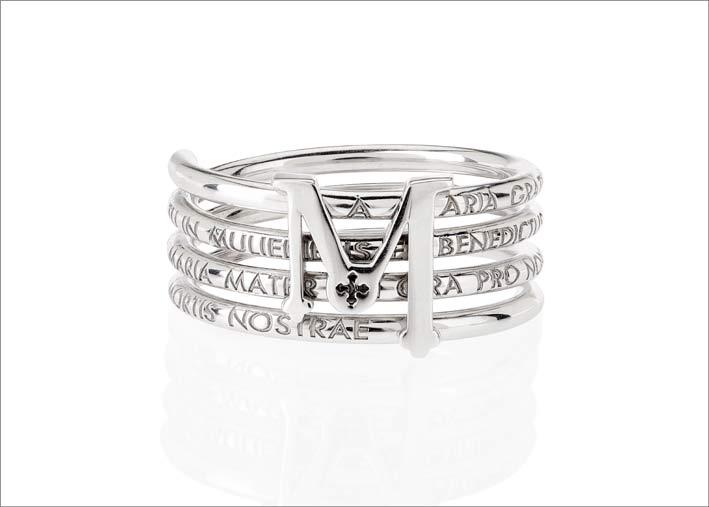 Anello in argento, collezione Settedoni di Tuum