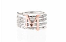 Anello Tuam X in argento e oro rosa