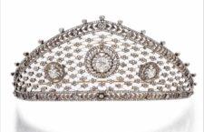 Tiara di diamanti -attribuita a Fabergé, circa 1903
