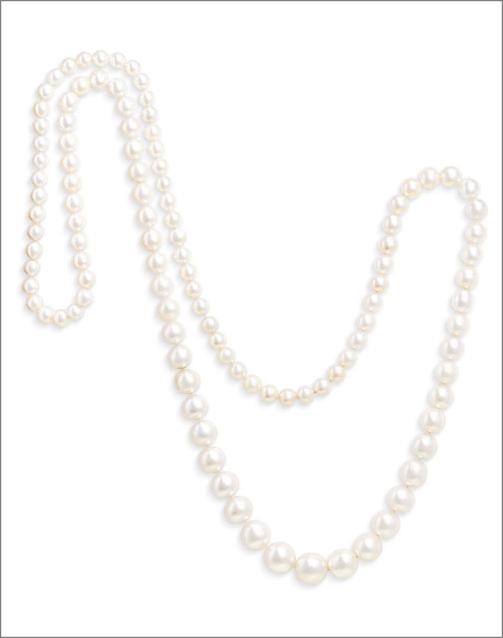 Rara collana con 110 perle naturali