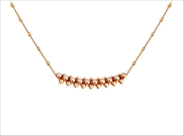Collier in oro rosa