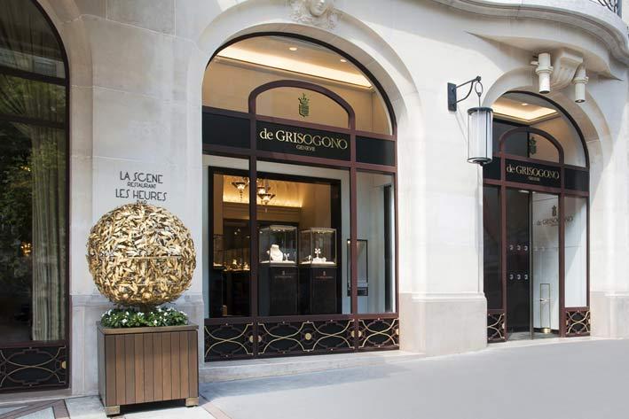 L'esterno della boutique de Grisogono a Parigi