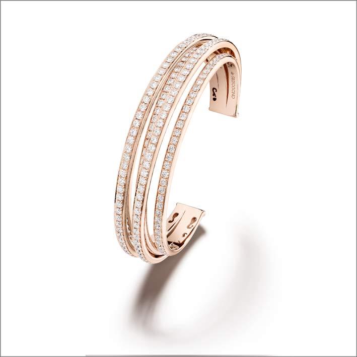 Bracciale in oro rosa e diamanti Allegra Classic
