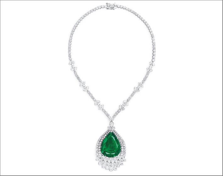 Collana di diamanti e smeraldo appartenuto a Caterina la Grande di Russia
