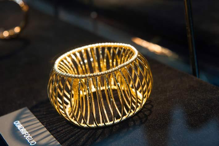 Bracciale in oro di Quadrifoglio