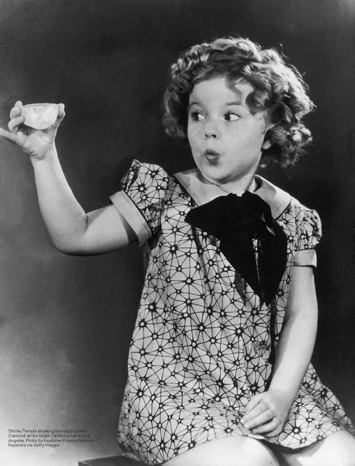 L'originale Jonker tenuto in mano da Shirley Temple bambina