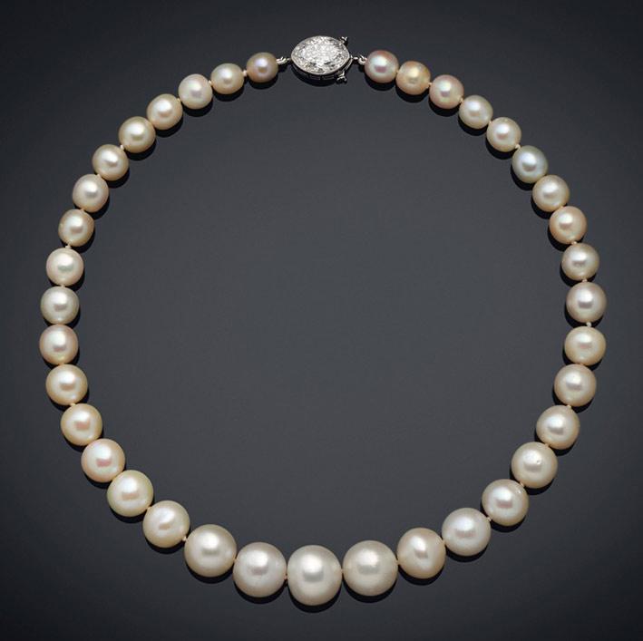 Collana di Cartier con perle naturali