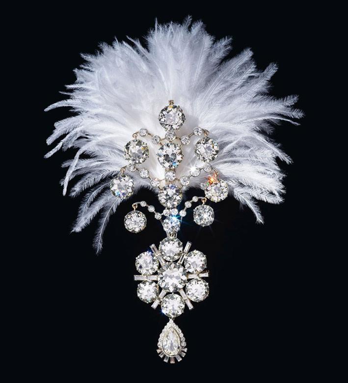 Ornamento per turbante per maharaja con diamanti