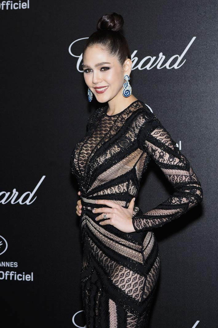 Araya Hargate al Secret Chopard party