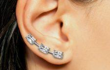 Earcuff con diamanti taglio Ashoka