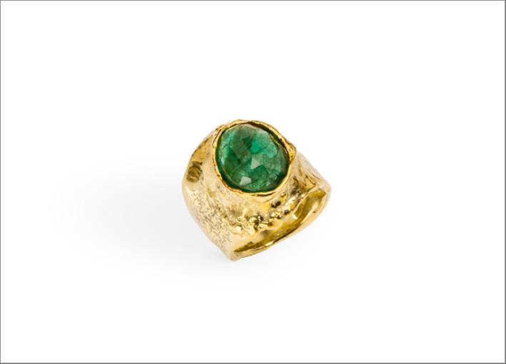 Anello con smeraldo di 8,86 carati