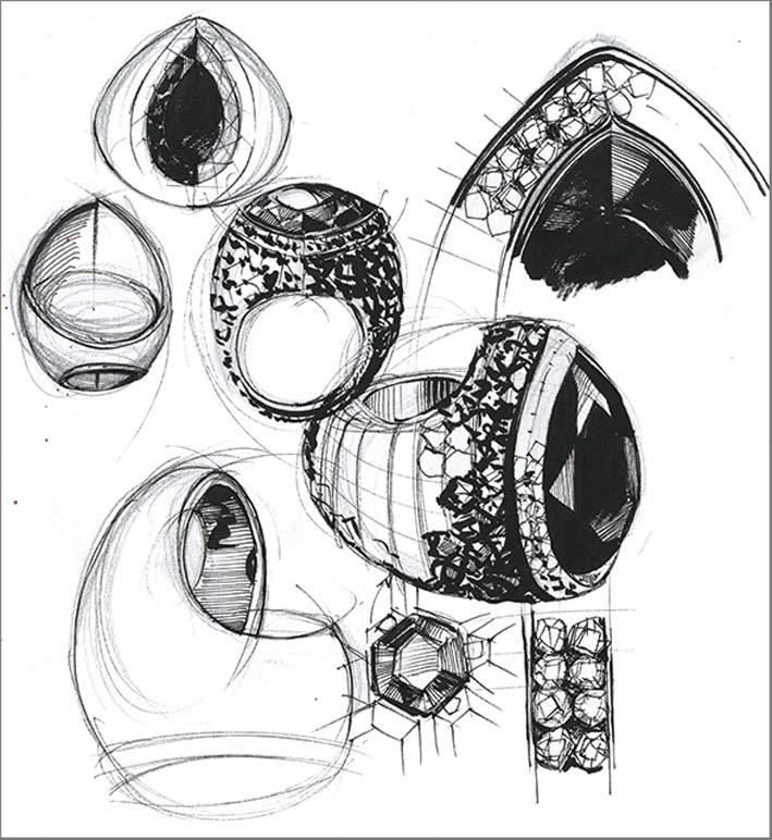 Alta gioielleria de Grisogono, disegni preparatori