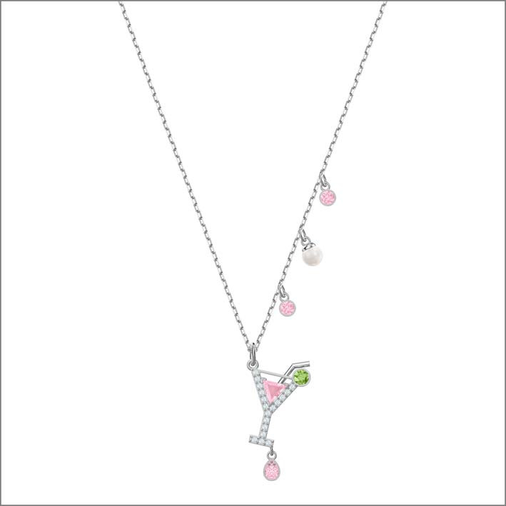 Collana con pendente cocktail