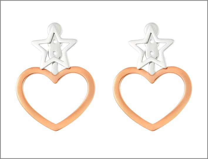 Stroili, orecchini in acciaio con pvd rosa