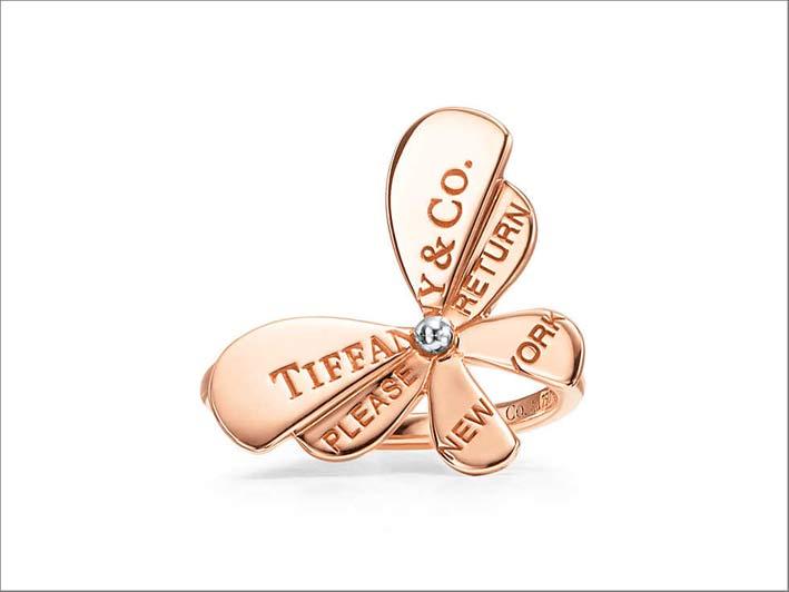 Anello in oro rosa della collezione Tiffany Love Bugs