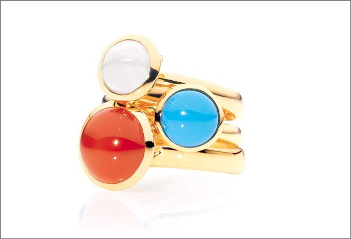 Tamara Comolli, anelli della collezione Bouton