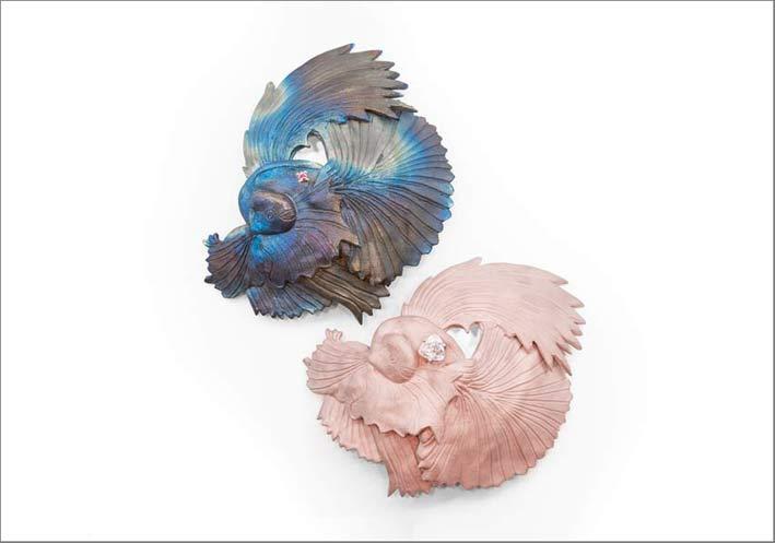 Spille fermacapelli a forma di pesci