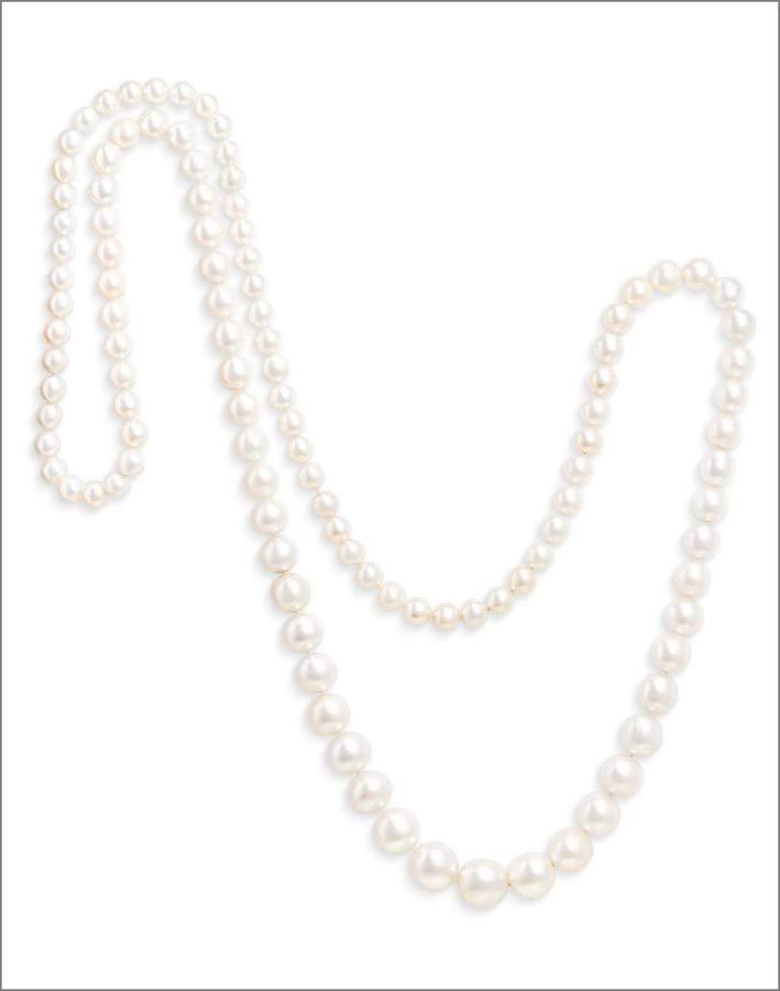 Collana con 110 perle naturali