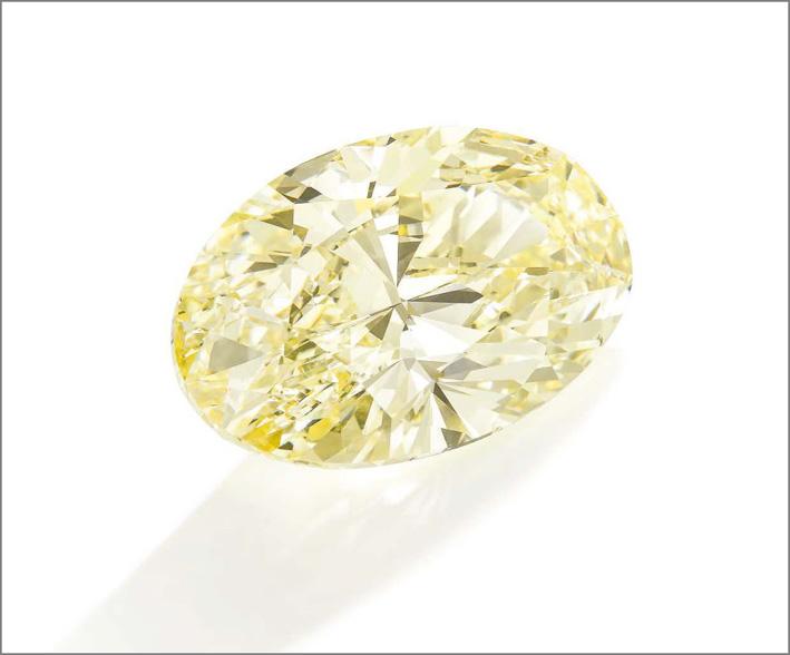 Siamante giallo fancy 118 carati che è stato acquistato da Siba in onore di Sam Abram