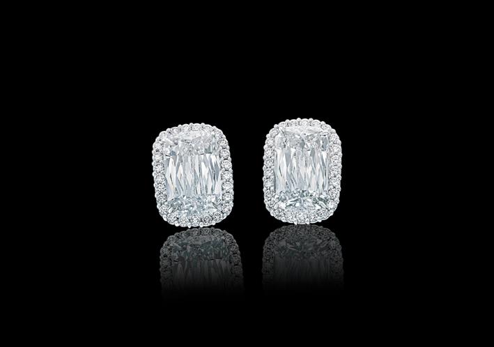 Orecchini con diamanti taglio Ashoka