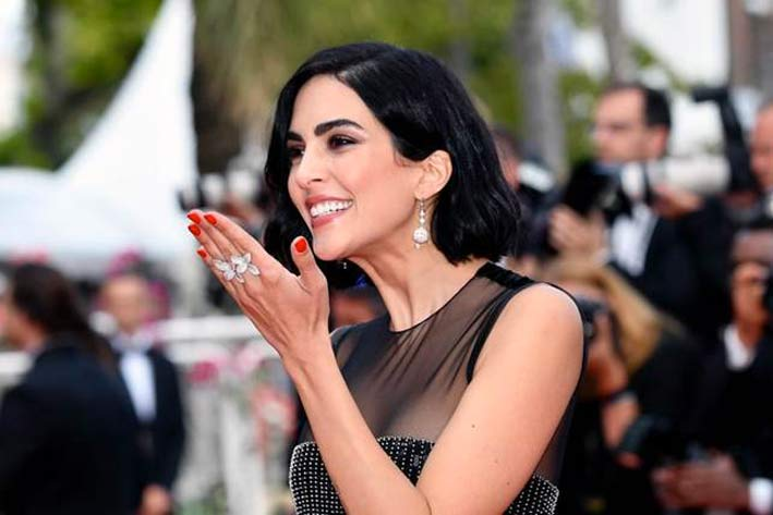 Rocío Muñoz Morales on the red carpet of Cannes 2019 with Pasquale Bruni jewels