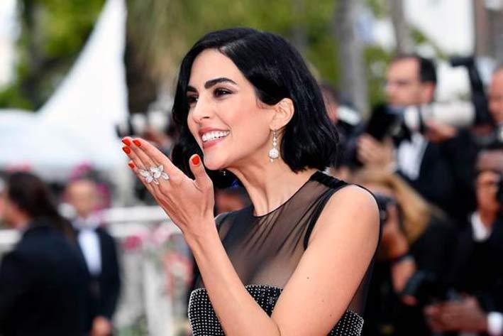 Rocío Muñoz Morales sul red carpet di Cannes 2019 con gioielli Pasquale Bruni