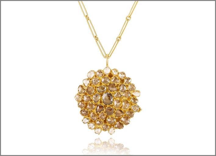 Pendente in oro con diamanti