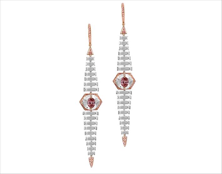 Boghossian, orecchini Kissing, con fancy intense pink diamond