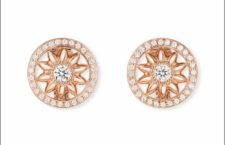 Harry Winston, orecchini in oro rosa e diamanti