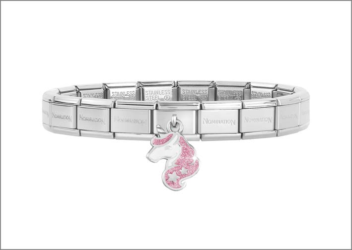 Nomination, bracciale composable con unicorno